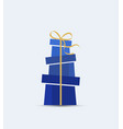 decorative christmas presents vector image