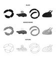 design of meat and ham symbol collection vector image vector image