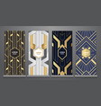 Design templates art deco booklets set