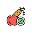 diet vegetables fruits proper nutrition flat vector image