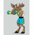 Elk - boxer vector image vector image
