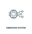 embedded system icon thin line style industry 40 vector image vector image
