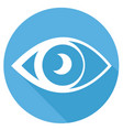 eye icons with long shadow vector image vector image