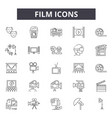 film line icons for web and mobile design vector image
