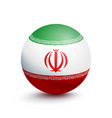 flag of iran in the form of a ball vector image