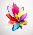 Floral abstract background vector image