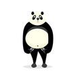 funny bear panda vector image vector image