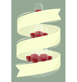 glass tower wine with banner vector image vector image