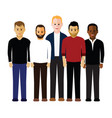 group of men vector image vector image