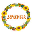 hand drawing lettering month september in a vector image vector image