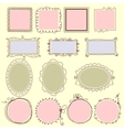 hand drawn frames lines circle and bubble vector image vector image