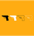 hand gun it is white icon vector image vector image