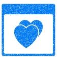 Hearts Calendar Page Grainy Texture Icon vector image vector image