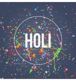Holi Banner with Splashes of Paint vector image