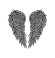 icon of gorgeous heraldic angel wings with vector image