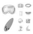 isolated object of equipment and swimming icon vector image vector image