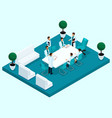 isometry doctors office hospital vector image vector image