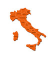 italy map with regions vector image vector image