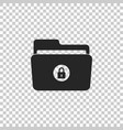 locked folder icon on transparent background vector image vector image