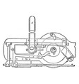mechanism of minting press from royal mint vector image vector image