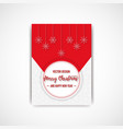 merry christmas flyer with snowflake vector image