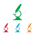 Microscope sign Colorfull set vector image vector image