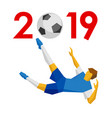 new year 2019 concept - soccer vector image