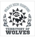 North American designs - Wolves vector image vector image
