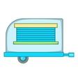Old trailer icon cartoon style vector image vector image