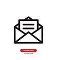 opened envelope with letter icon vector image