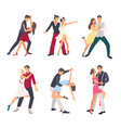 people dancing salsa couples man and woman vector image vector image