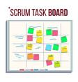 planning board agile board tasks for team vector image vector image