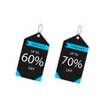 price tag super sale up to 60 70 off imag vector image vector image