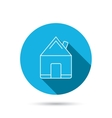 Real estate icon House building sign vector image vector image