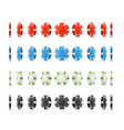 realistic detailed 3d poker chips set different vector image vector image