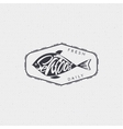 Seafood - poster stamp badge insignia postcard vector image