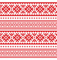 seamless folk art pattern lapland traditional vector image vector image