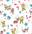 seamless pattern with gnomes vector image vector image