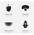 set of 4 editable cooking icons includes symbols vector image vector image