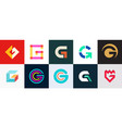 set of letter g logo vector image