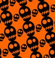 Skull pattern halloween vector image vector image