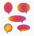 speech bubbles icons set gradient flat style vector image vector image