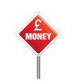 sterling money sign vector image