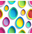 stylish colorful seamless pattern with easter egg vector image