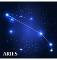 Symbol Aries Zodiac Sign vector image vector image