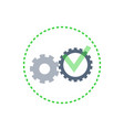 team and teamwork cooperation gears set vector image vector image