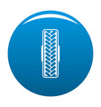 tread pattern icon blue vector image vector image