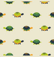 turtle seamless pattern cartoon style vector image vector image