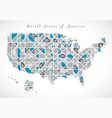 usa map crystal style artwork vector image