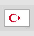 white turkish flag with red crescent and star vector image vector image